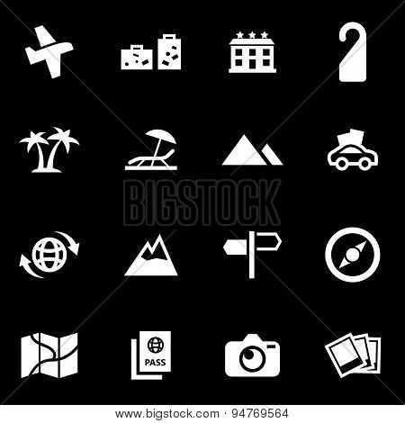 Vector white travel icon set
