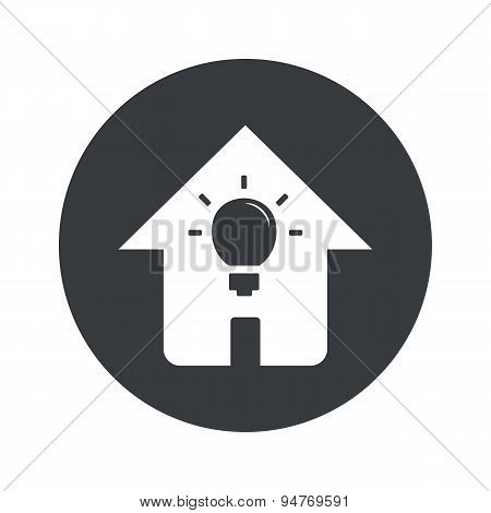 Monochrome round house light icon