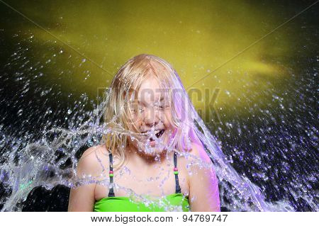 Water And Young Girl