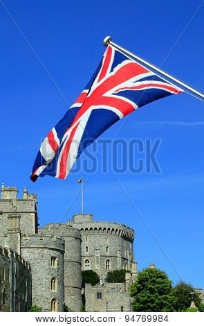 Windsor Castle and Union Jack