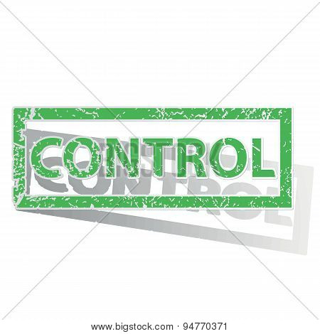 Green outlined CONTROL stamp
