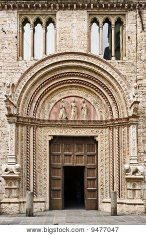 Portale delle Arti of the Palazzo dei Priori in Perugia