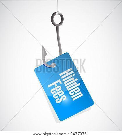 Hidden Fees Hook Sign Concept Illustration