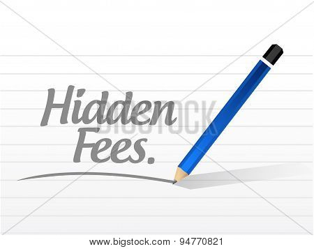 Hidden Fees Message Sign Concept