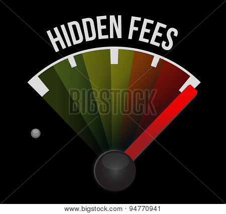 High Hidden Fees Sign Concept Illustration