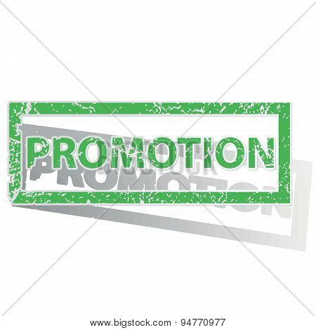 Green outlined PROMOTION stamp