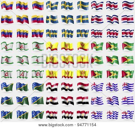 Venezuela, Sweden, Costa Rica, Ingushetia, Chuvashia, Guyana, Solomon Islands, Egypt, Ajaria. Big Se