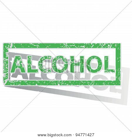 Green outlined ALCOHOL stamp