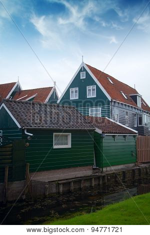 Old Fishing Village Of Marken In The Netherlands. Close To Amsterdam