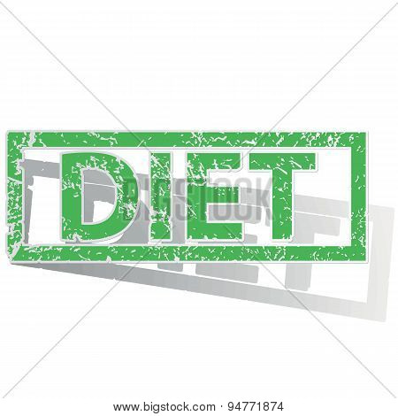 Green outlined DIET stamp