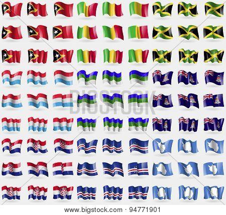 East Timor, Mali, Jamaica, Luxembourg,  Komi, Cayman Islands, Croatia, Cape Verde, Antarctica. Big S