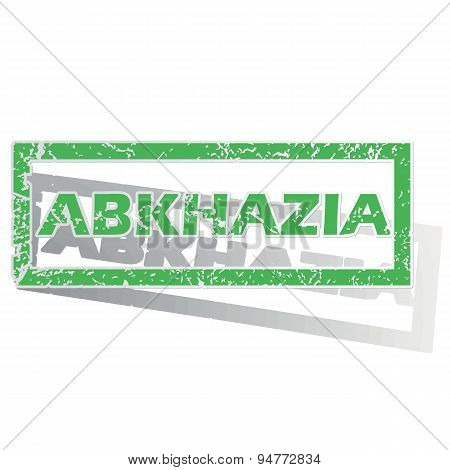 Green outlined Abkhazia stamp