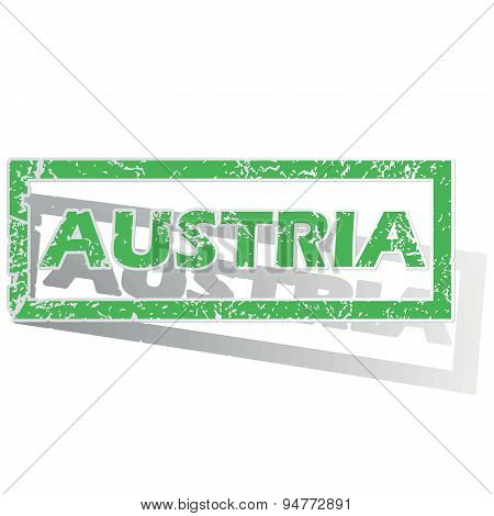 Green outlined Austria stamp