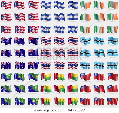Puerto Rico, Honduras, Ireland, Australia, Thailand, Botswana, Christmas Island, Guineabissau, Myanm