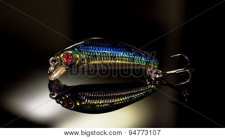 Fishing lures close-up