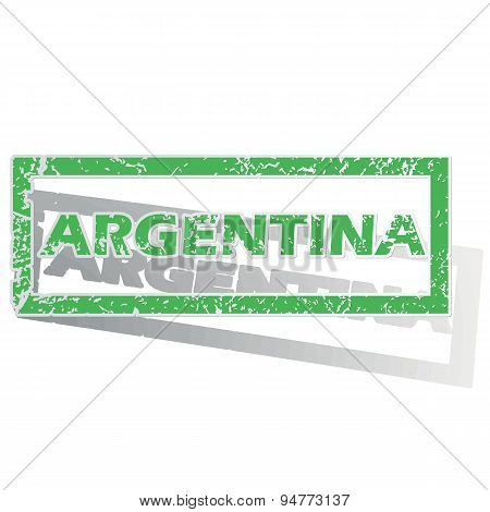 Green outlined Argentina stamp