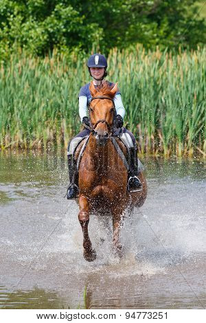 Horserider In The Lake