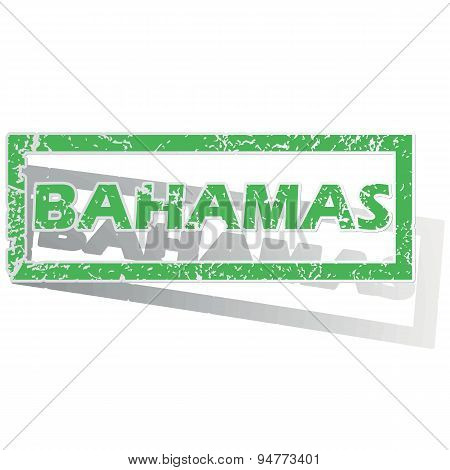 Green outlined Bahamas stamp