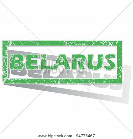 Green outlined Belarus stamp