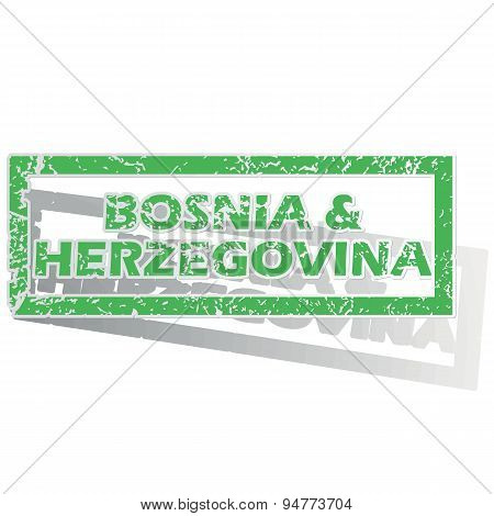 Outlined Bosnia and Herzegovina stamp