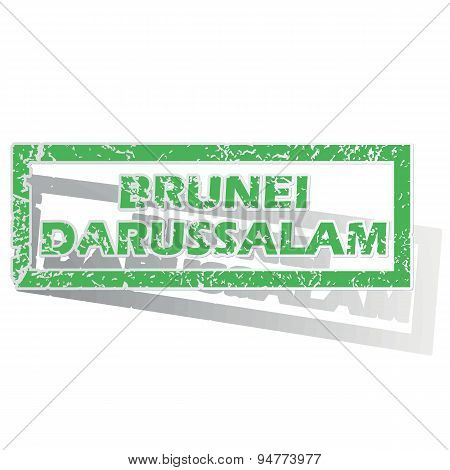 Green outlined Brunei Darussalam stamp