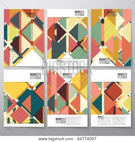 Abstract colored background, triangle design illustration. Business vector templates for brochure, f