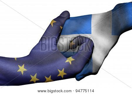 Handshake Between European Unionand Greece