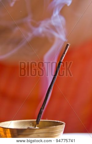 Smoke from the fuming incense stick