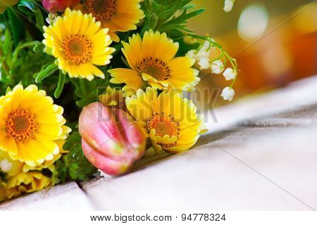 Summer flowers on the table