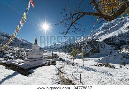 Buddhist Stupa In Annapurna Region, Nepal