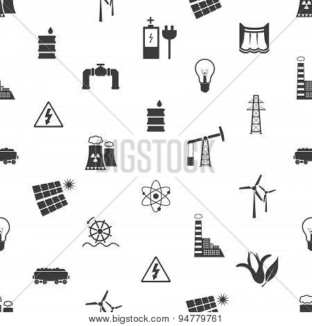 Electricity And Energy Icons And Symbol Seamless Pattern Eps10