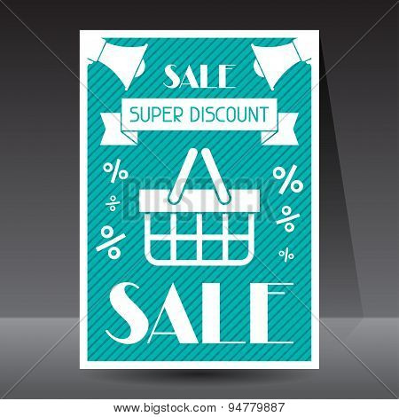 Sale and shopping flyer advertising poster design