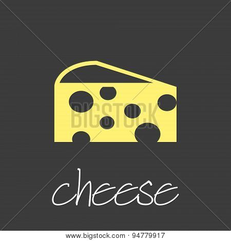 Cheese Icon Design Banner And Background Eps10
