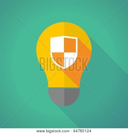 Long Shadow Light Bulb With A Shield
