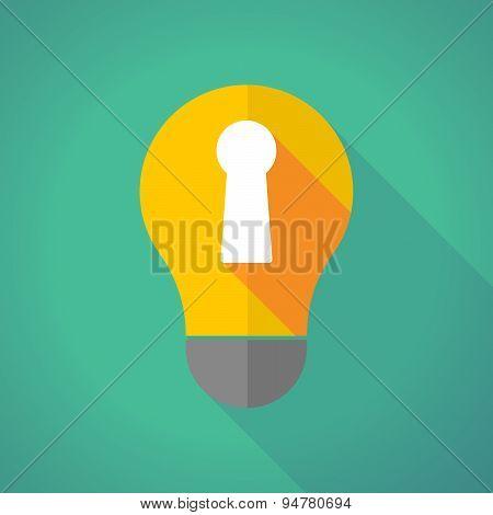 Long Shadow Light Bulb With A Key Hole