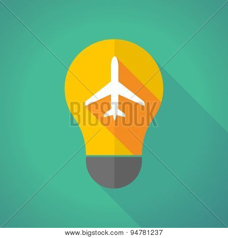 Long Shadow Light Bulb With A Plane