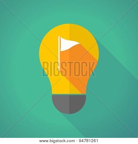 Long Shadow Light Bulb With A Golf Flag