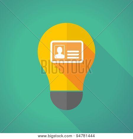 Long Shadow Light Bulb With An Id Card