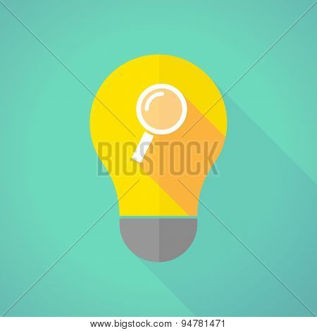 Long Shadow Light Bulb With A Magnifier