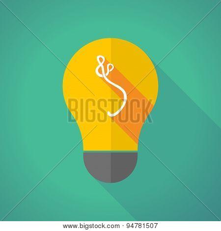 Long Shadow Light Bulb With An Ebola Sign