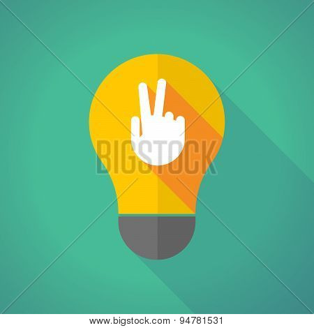Long Shadow Light Bulb With A Victory Hand