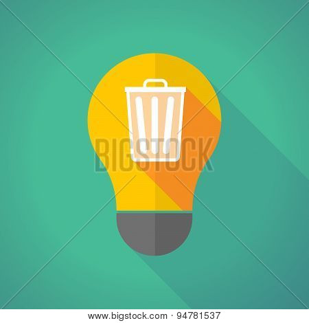 Long Shadow Light Bulb With A Trash Can