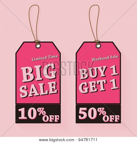 Vintage Sale Tags Illustration