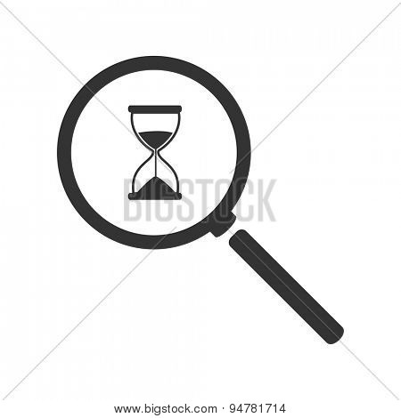 Magnifying hourglass icon