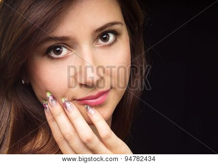 Young Beautiful Woman Fashion Portrait