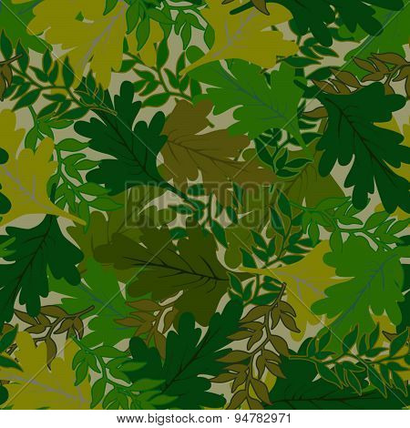 camouflage background leaves green hues