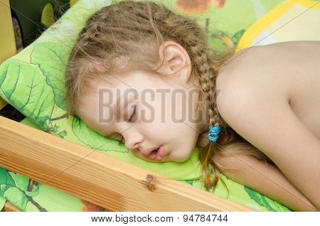 Sleeping Five Year Old Girl
