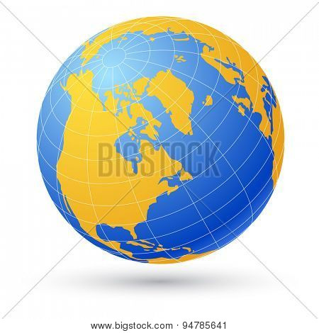 Globe isolated on white.