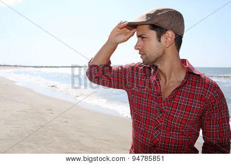 man wearing a beret