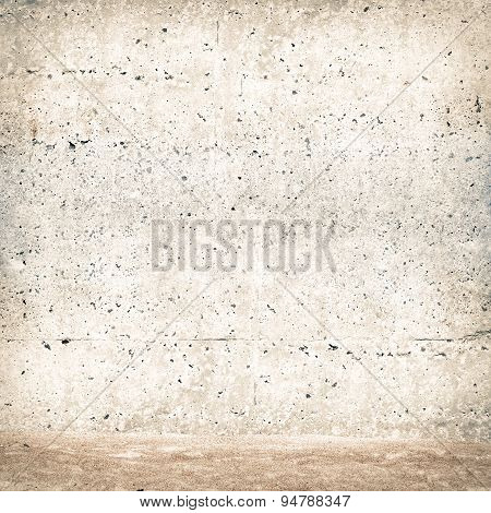 stucco wall with sand
